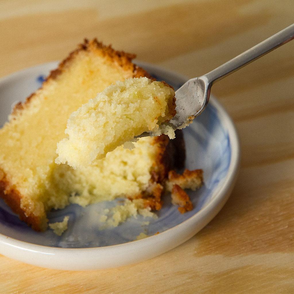 Gin and Tonic Pound Cake Slice